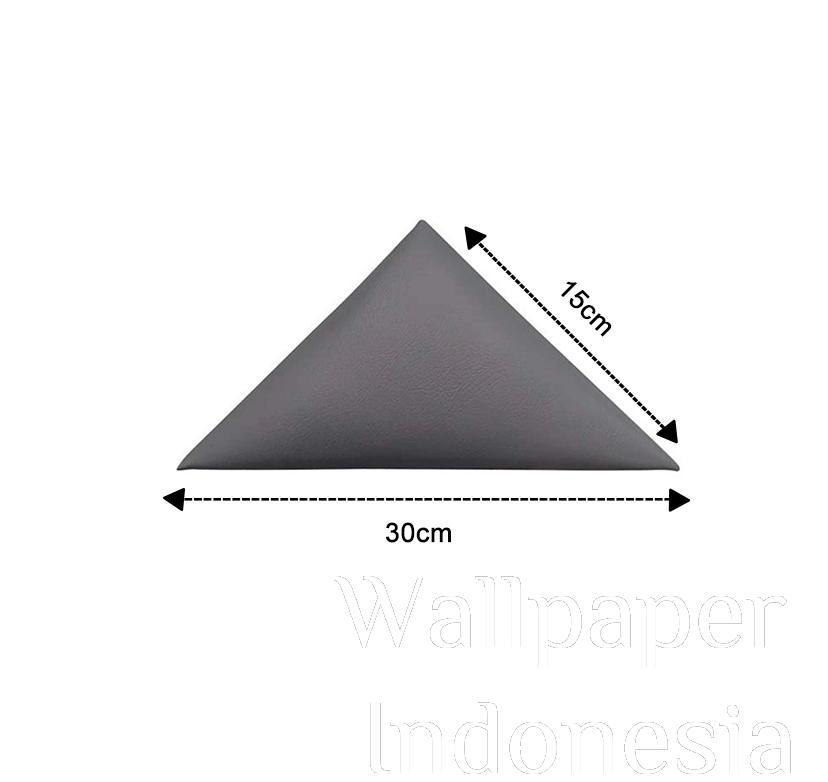 WALLPANEL HEADBOARD STICKER 402 GREY 1/4 SUDUT